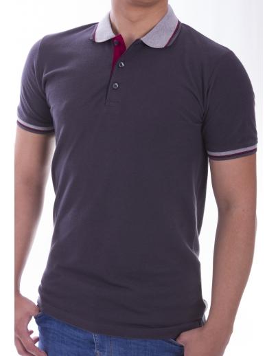 T-shirt COLLAR AFM-53578 FUME-