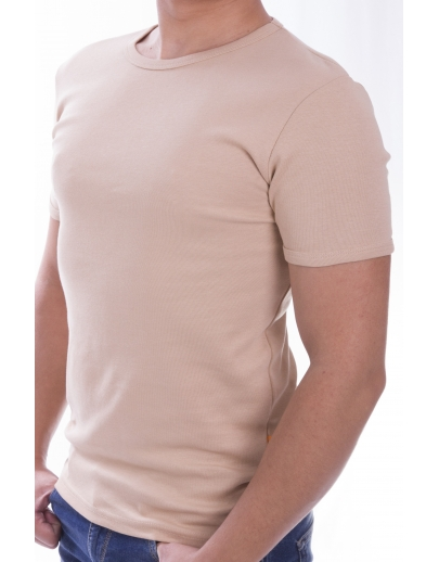T-shirt AFM BASIS + receiver2119 SNO-A.BEIGE