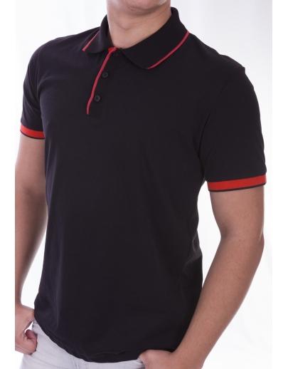 T-shirt COLLAR AFM-53553-SIYAH