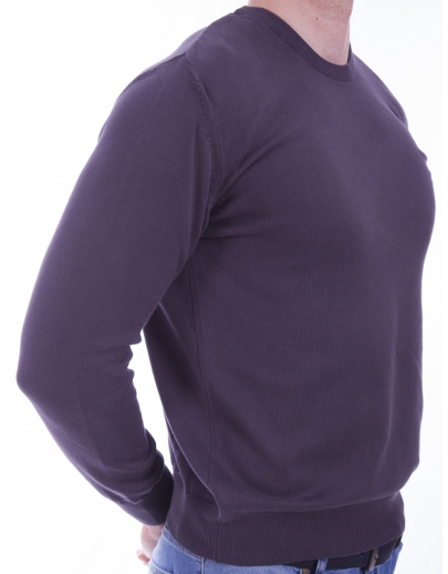 The AFM SWEATER-BASIC - BBC --32105-5 NIGHT-ANTRASIT