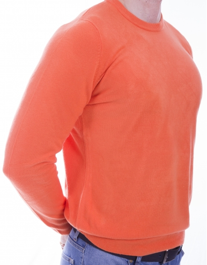 The AFM SWEATER BASIS-KASHMIR--41600-5 NIGHT-ORANGE