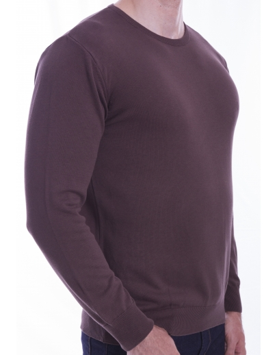 The AFM SWEATER-BASIC - BBC --42105-5 NIGHT-KAHVE