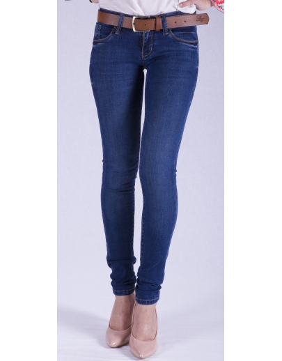 Pantalones de mezclilla-Skinny Jeans mujeres LACARINO-3027-cinturón